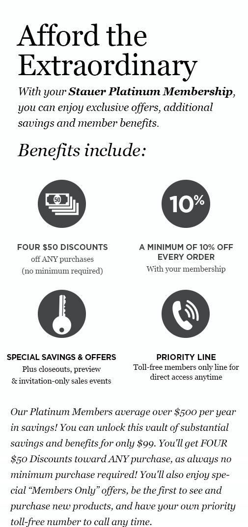 Stauer Member Benefits
