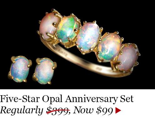 Opal Ring Set