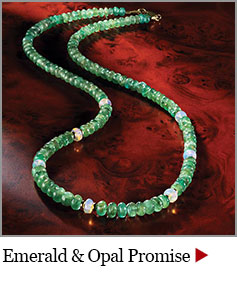 Emerald and Opal Promise Necklace