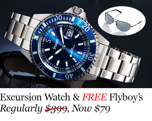 Excursion Watch and Free Flyboy Sunglasses