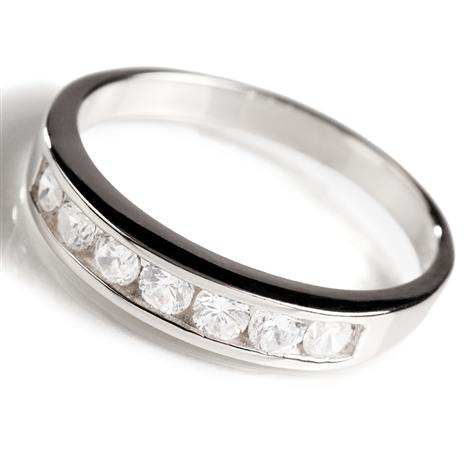 Sterling Silver Classic Channel Set Ring