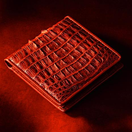 Stauer Crocodilian Wallet Dark Brown