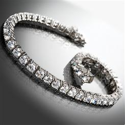 Sterling Silver DiamondAura® Tennis Bracelet