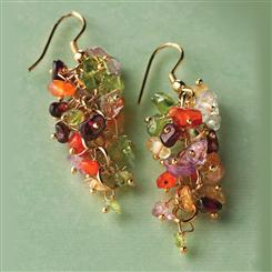 Mixed Gem Torsade Earrings