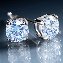 Sterling Silver DiamondAura® Stud Earrings