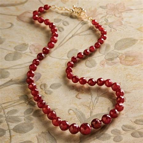 Crimson Fire Ruby Necklace