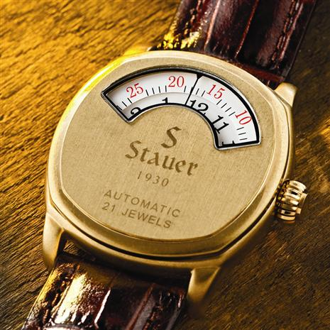 Stauer 1930 Gold-Finished Dashtronic Watch