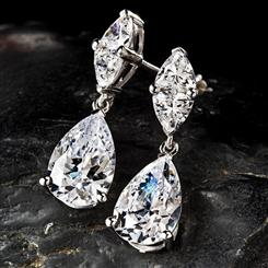 Diamond<em>Aura</em>&reg; French Pear Drop Earrings