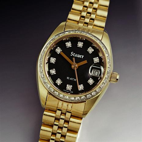 STAUER LADIES MIDNIGHT DIAMOND WATCH