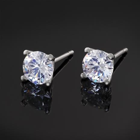 Platinum-Finished Stud Earrings