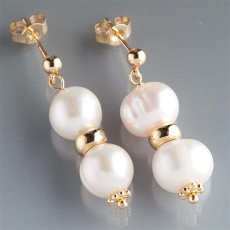 Aria Cultured Pearl Drop Earrings