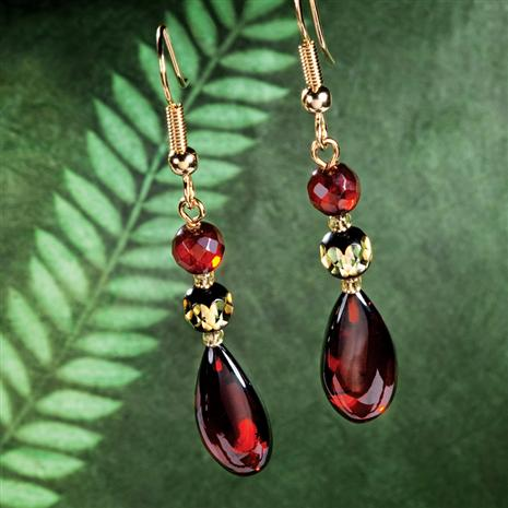 AMBER ARTISAN EARRINGS