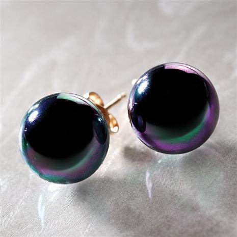 Tahiti Black Peacock Earrings