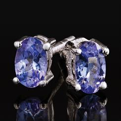 Tanzanite Lightning Stud Earrings