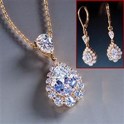 Royal Pear Necklace and Earrings