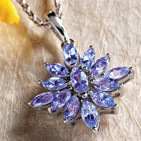 Tanzanite Sunburst Necklace Stauer Online Discount
