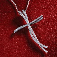 Diamond<em>Aura</em>&reg; Endless Faith Necklace