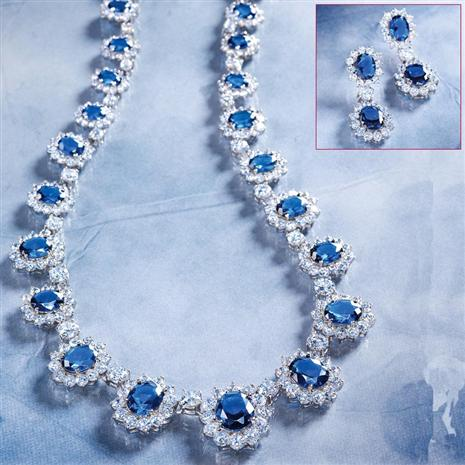 Royal Palace Necklace & Earrings Set