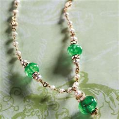 Emerald & Pearl Margherita Necklace