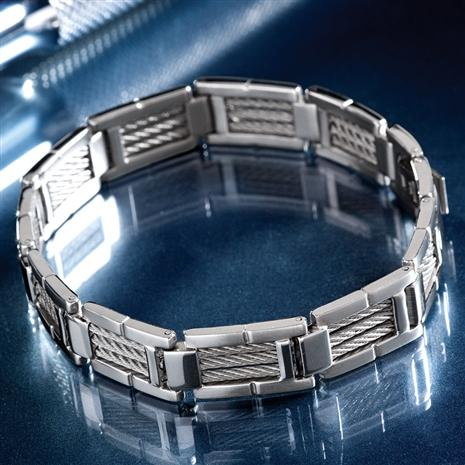 Vincenzo Stainless Steel Men's Bracelet
