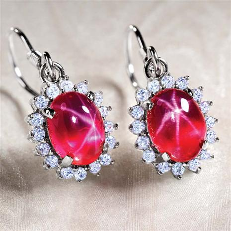 Aster Scienza Ruby Earrings