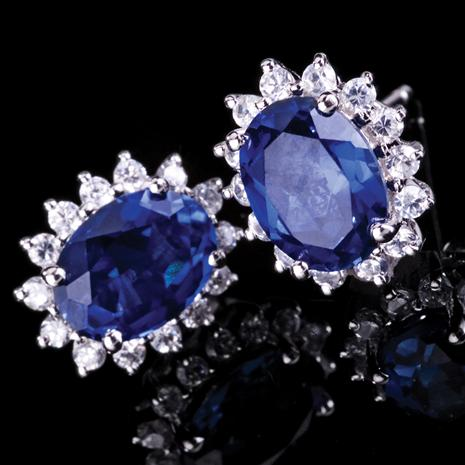 The Royal Proposal Lab-created Sapphire Earrings