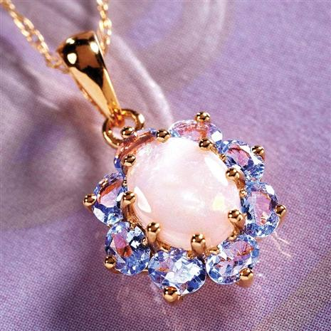 Tanzanite & Opal Necklace