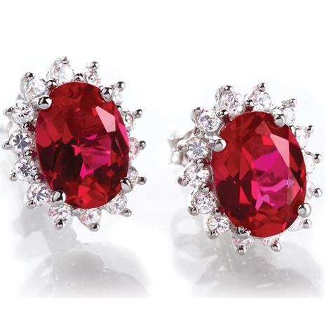 Scienza Crimson Passion Earrings (1 1/4 Ctw) Stauer Online Discount