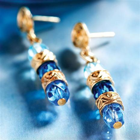 Donato Blue Murano Glass Earrings Stauer Online Discount