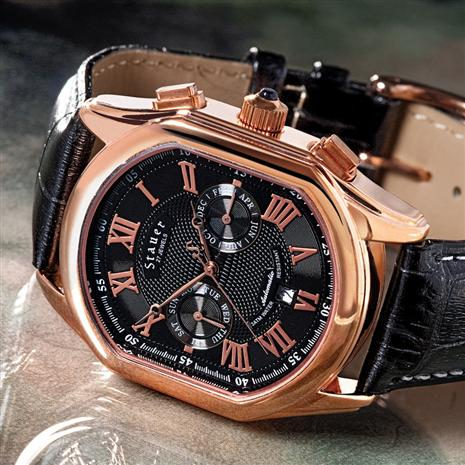 Stauer Rose Gold Fused Meisterzeit Watch