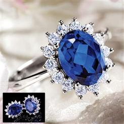 Royal Proposal Scienza® Sapphire Ring & Free Earrings Set