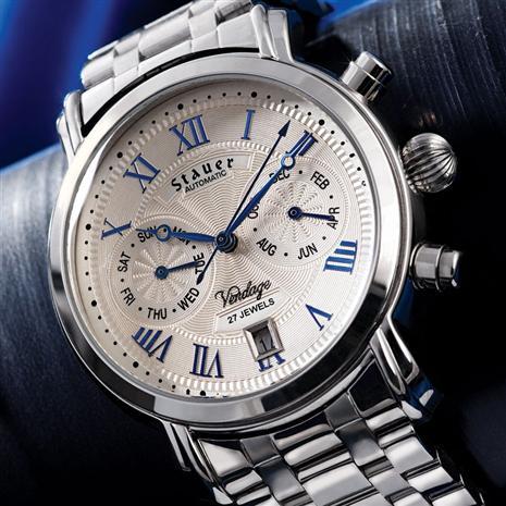 Silver Stauer Vendage Timepiece Stauer Online Discount