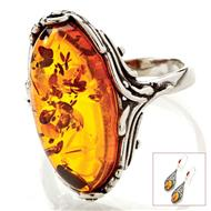 Baltic Honey Amber Ring & Earrings Set