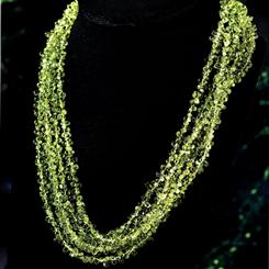Peridot Torsade Necklace