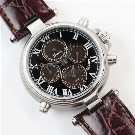 Stauer Graves '33 Noir Wristwatch Stauer Online Discount