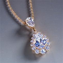 DiamondAura® Royal Pear Pendant