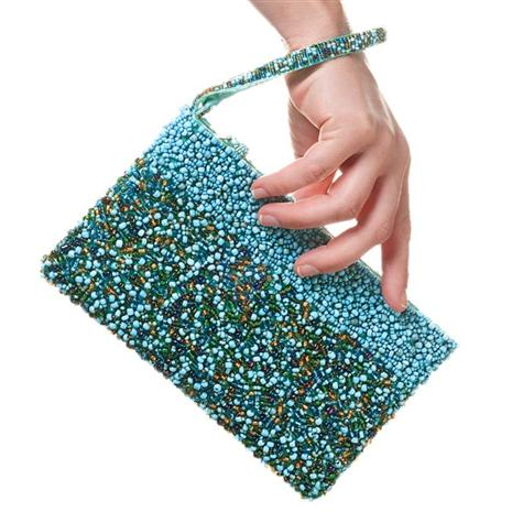 BEQUIA GLASS BEAD CLUTCH