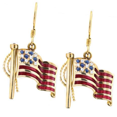 SAPPHIRE & DIAMONDAURA® PATRIOT EARRINGS (3/5 CTW)