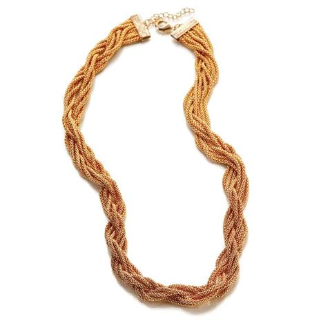Asombro 8-Strand Gold-finished Necklace