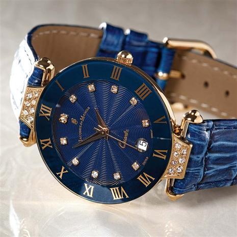 Stauer Midnight Sapphire Timepiece & Bonus Handbag Stauer Online Discount