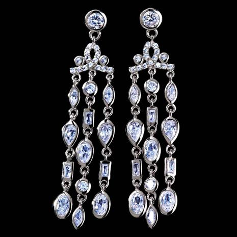 DiamondAura® Chandelier Earrings