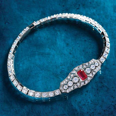 Ruby & DiamondAura® Beverly Bracelet