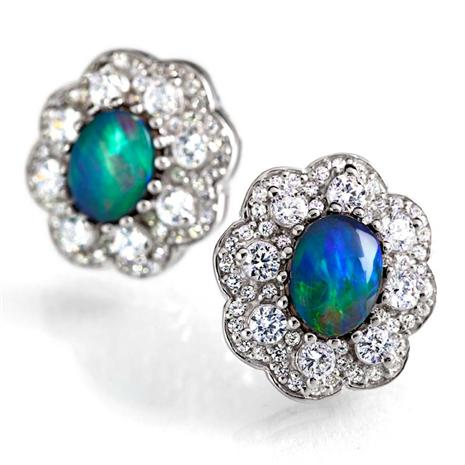 Gihon Ethiopian Opal Earrings (5 Ctw)
