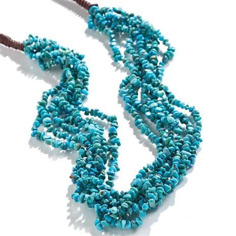 MEXICA 6-STRAND TURQUOISE NECKLACE
