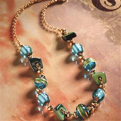 Cossimo Blue Murano Glass Necklace