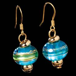 Cossimo Blue Murano Glass Earrings