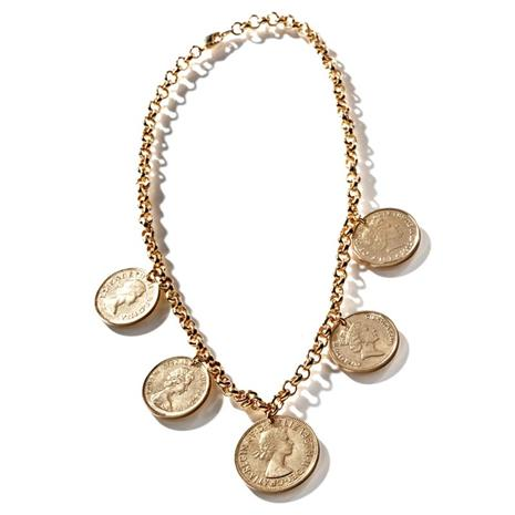 Queen Elizabeth Jubilee Coin Necklace