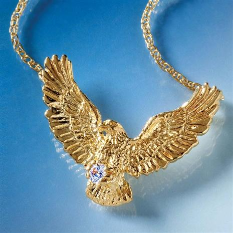 Liberty Eagle Gold-finished Necklace