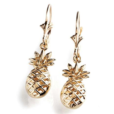 14K Yellow Gold Colonial Pineapple Earrings Stauer Online Discount