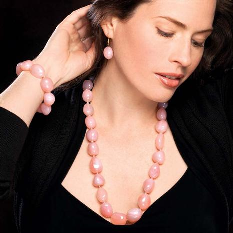 Aphrodisias Pink Chalcedony Set Stauer Online Discount